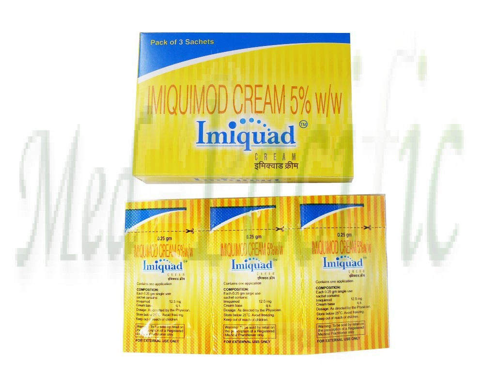 Buy Low Price Imiquimod 5% only $7.70 (3 sachets x Imiquad
